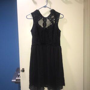 Gray short halter dress